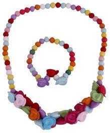 Pikaboo Roses Jewellery Set - Multi Color