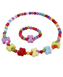 Pikaboo Bow Tie Beads Jewellery Set - Multi Color