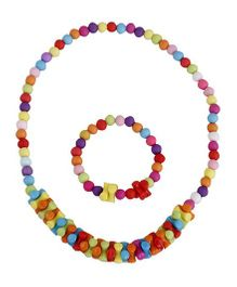 Pikaboo Zig Zag Beads Jewellery Set - Multi Color