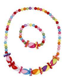 Pikaboo 50-50 Toffee Jewellery Set - Multi Color