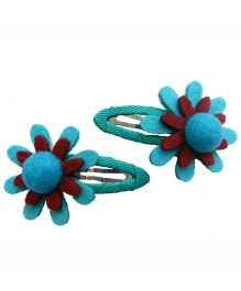 Pikaboo Sunflower Snap Clip - Blue