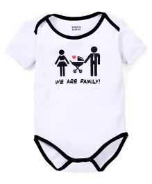 Tantra Half Sleeves Onesie We Are Family Print - Lavender