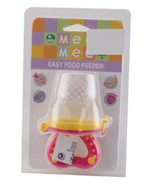 Mee Mee Easy Food Feeder - Pink & Yellow