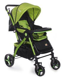 Mee Mee Pram Cum Stroller - Green and Black