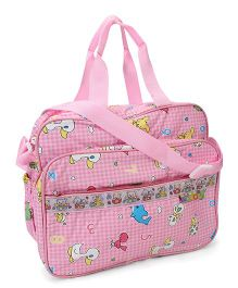Mee Mee Mama's Bag Checks And Duck Print - Pink