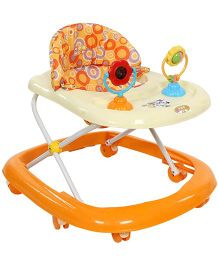 Mee Mee Baby Walker With Two Play Toys MM W 3023 - Orange