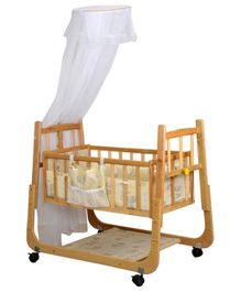 Mee Mee Baby Cradle - Yellow And Brown