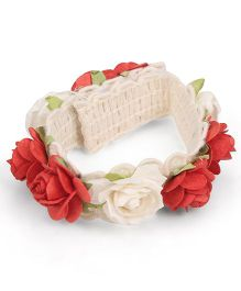 Sweet Berry Rose Wrist Band - Red