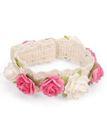 Sweet Berry Rose Wrist Band - Pink