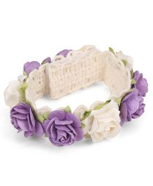 Sweet Berry Rose Wrist Band - Purple