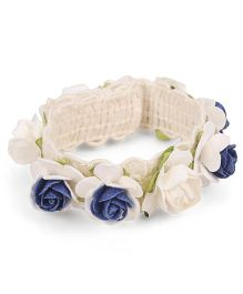 Sweet Berry Rose Wrist Band - Blue
