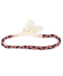 Sweet Berry Beaded Headband - Pink