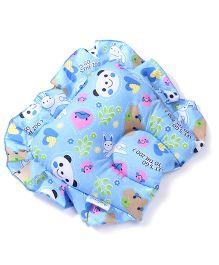 Babyhug Jumbo Semi Circular Pillow Panda Print - Blue