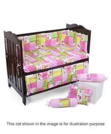Babyhug Sleepwell Cot Bedding Set - Pink