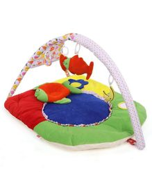Babyhug Premium Play Gym With Fish Toy & Pillow   -Multicolor