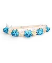 Sweet Berry Floral Headband - Blue
