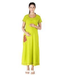 Morph  Short Sleeves Night Gown - Parrot Green