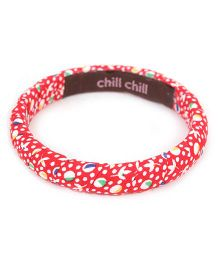 De Berry Flower Print Wrist Band - Red