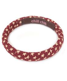 De Berry Star Print Wrist Band - Maroon