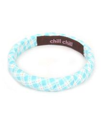 De Berry Checks Print Wrist Band - Sky Blue