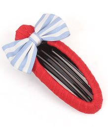 Clip Case Snap Clip Bow Applique - Red Blue