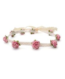 Sweet Berry Rose Headband - Pink