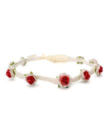 Sweet Berry Rose Headband - Red
