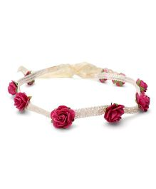 Sweet Berry Rose Headband - Fuchsia