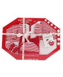 Wonderchild 13 Piece Baby Gift Set - Red & White