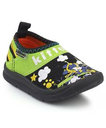 Kittens Canvas Shoes - Black And Green