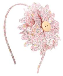 Clip Case Stylish Hair Band With Flower - Pink