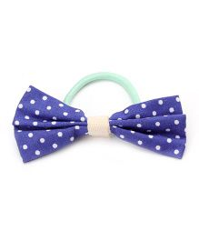 Clip Case Printed Bow Rubber Band - Blue