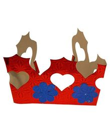 Partymanao Paper Crown Red - Pack Of 5