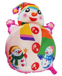 Partymanao Snowman Shaped Foil Balloon - Multicolor