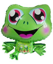 Partymanao Frog Shaped Foil Balloon - Green