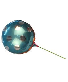 Partymanao Big Round Polka Dot Balloon With Straw - Blue