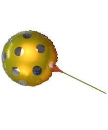 Partymanao Big Round Polka Dot Balloon With Straws - Yellow