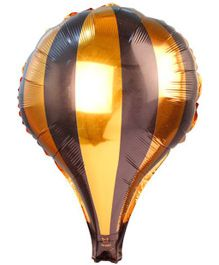 Partymanao Striped Foil Balloon - Golden And Brown