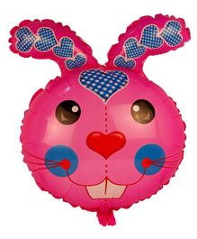 Partymanao Rabbit Shaped Foil Balloon - Pink