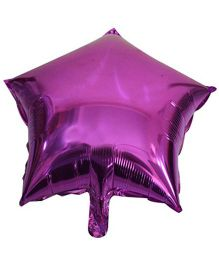 Partymanao Leaf Shaped Foil Balloon - Purple