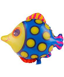 Partymanao Polka Dotted Fish Foil Balloon - Blue Multicolor