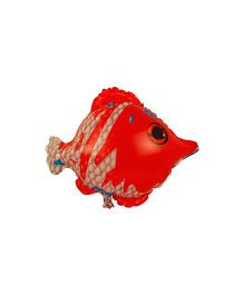 Partymanao Fish Foil Balloon - Red And Beige