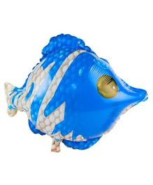 Partymanao Fish Foil Balloon - Blue And White
