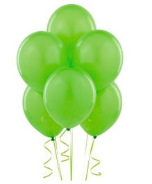Partymanao Green Metallic Balloons - Pack of 25