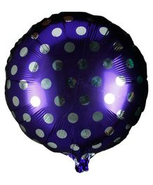 Partymanao Polka Dot Foil Balloon - Purple