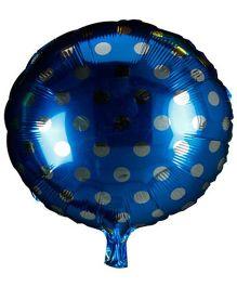 Partymanao Polka Dot Foil Balloon - Blue