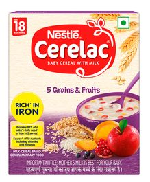 Nestle Cerelac Infant Cereal 5 Grains & Fruits Stage 5 - 300 gm