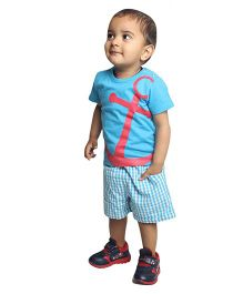Nino Bambino Organic Cotton T-Shirt And Shorts - Turquoise