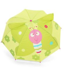 Babyhug Butterfly Print Umbrella Green - 18 Inches