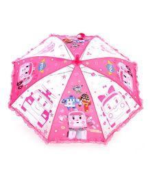 Babyhug Kids Umbrella Robocar Poli Print - Dark Pink